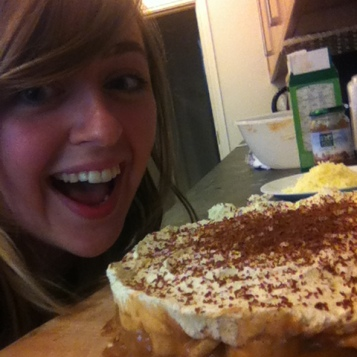 A very gooey homemade banoffee pie