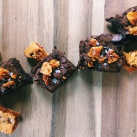 Kitchen Experiments, A&E and Gooey Honeycomb & Sea Salt Chocolate Brownies