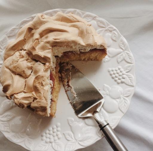 Sticky plum meringue cake nigellaeatseverything.com