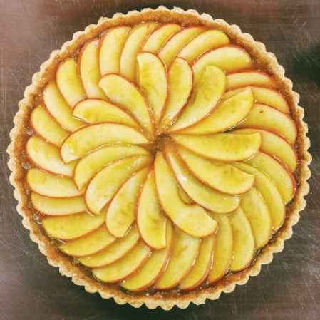 French Apple and Calvados Tart nigellaeatseverything.com