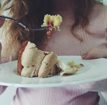 Eating sticky plum meringue cake nigellaeatseverything.com