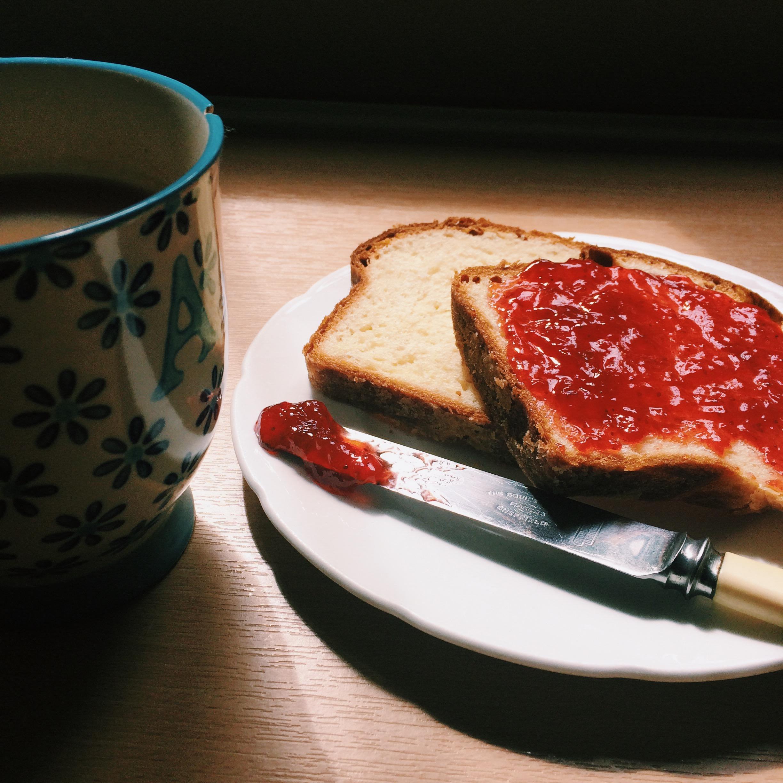 brioche strawberry jam tea nigellaeatseverything.com