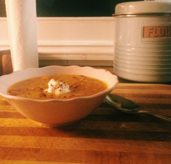 pepper and sweet potato soup