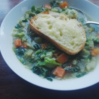 Vegetable and pearl barley soup