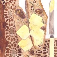 Fig, rosemary and fennel soda bread